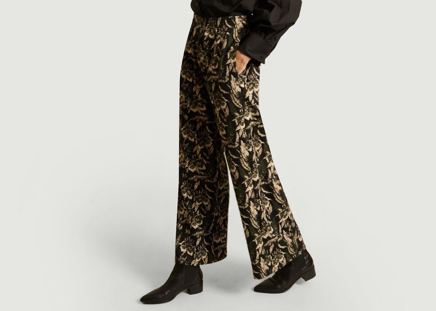 Pantalon Jacquard Fleurs - MM6