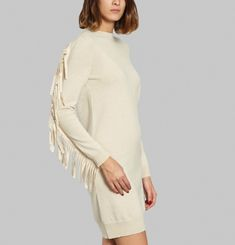 Fringed Knit Dress