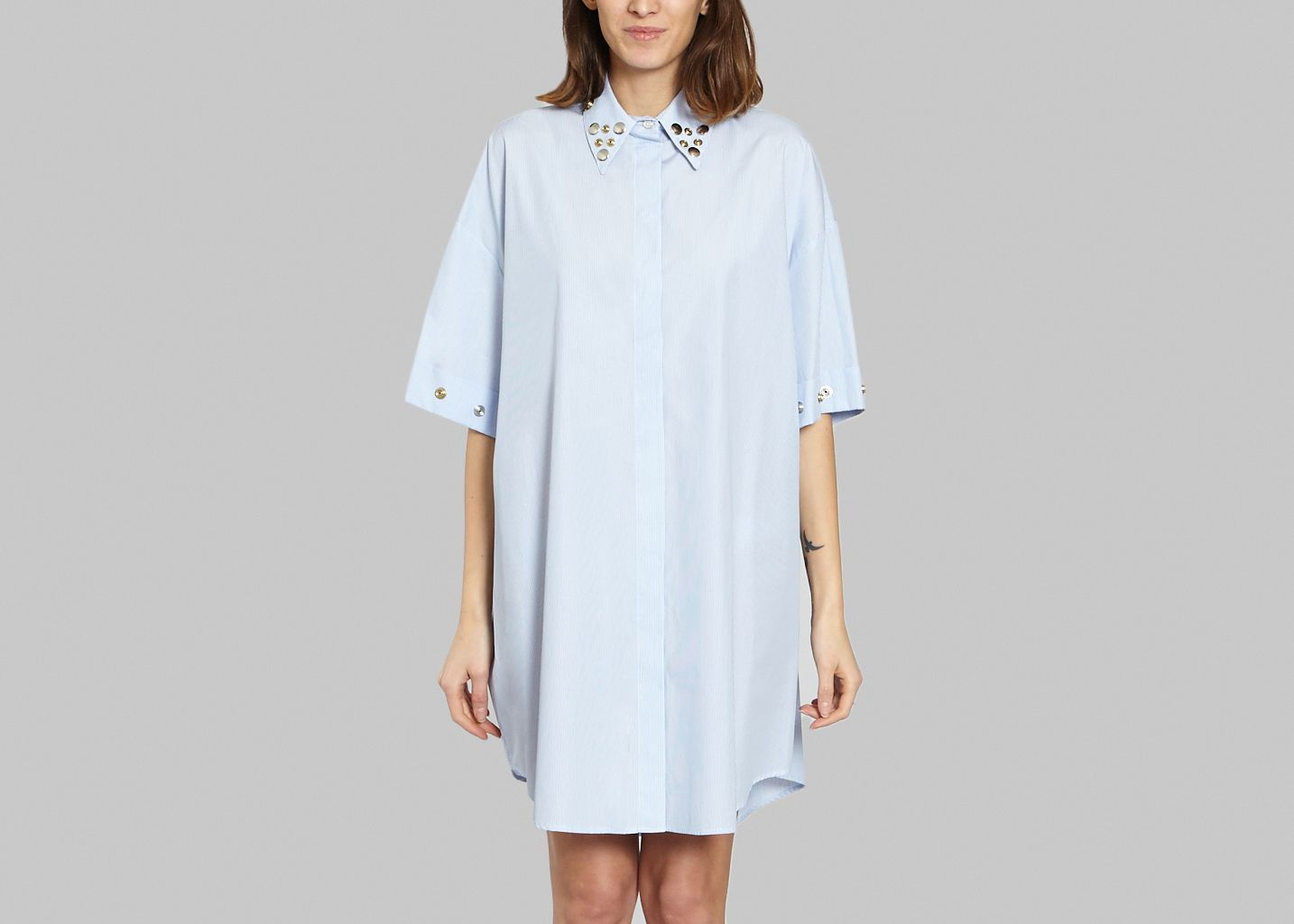 Robe Chemise Oeillets  - MM6