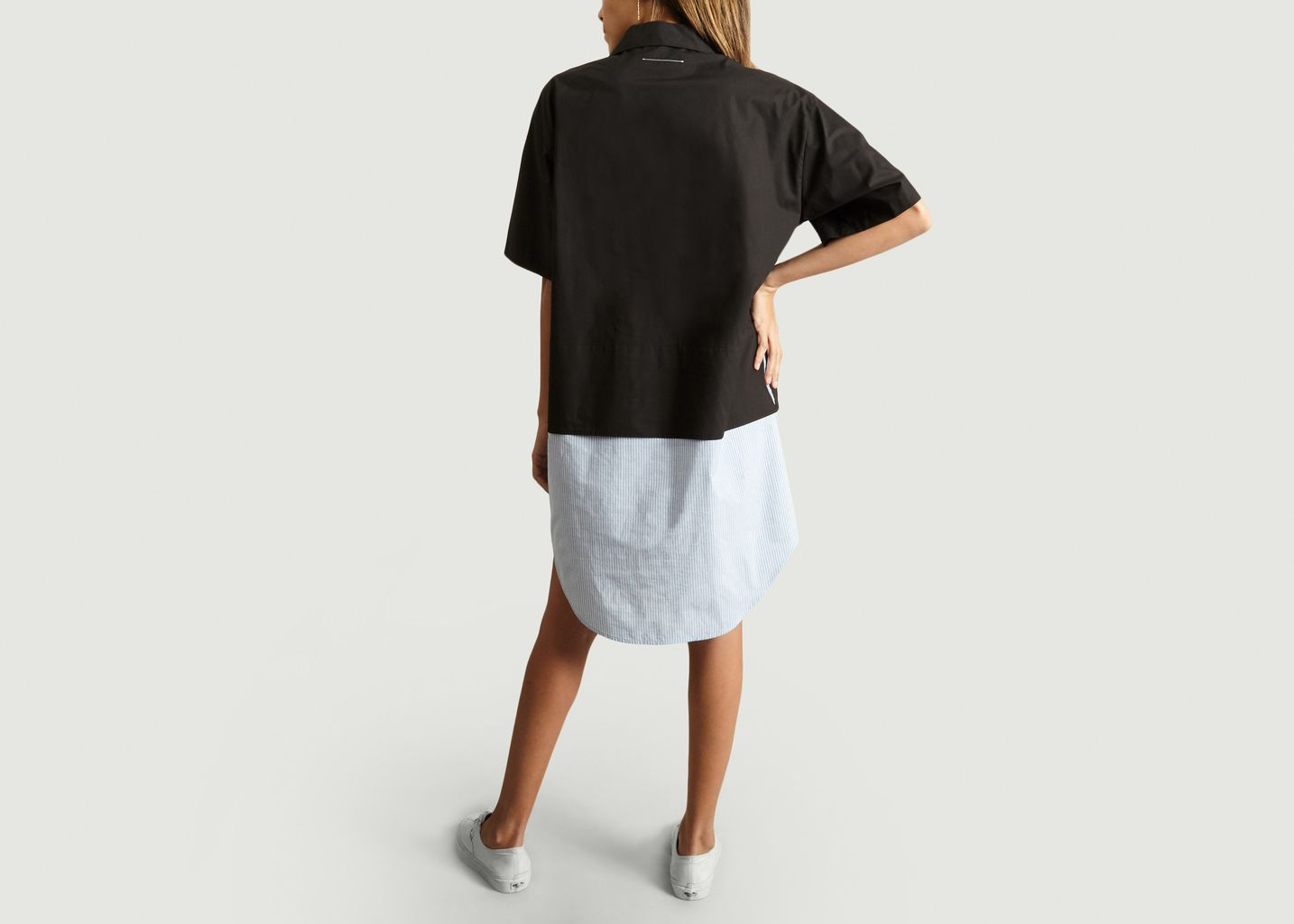 Robe T shirt bimatière bicolore - MM6