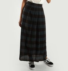 Chequered Maxi Skirt