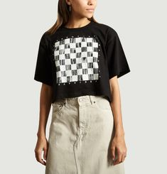 T-Shirt Cropped Damier