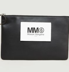 Faux Leather Zip Clutch