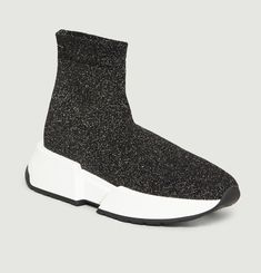 Lurex Knit Sock Trainers