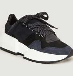 Suede Panelled Trainers