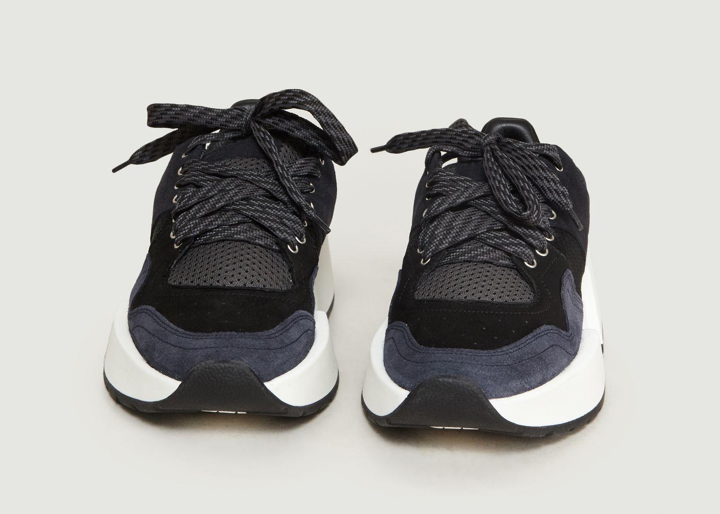 Sneakers En Cuir Suédé Et Tissu - MM6