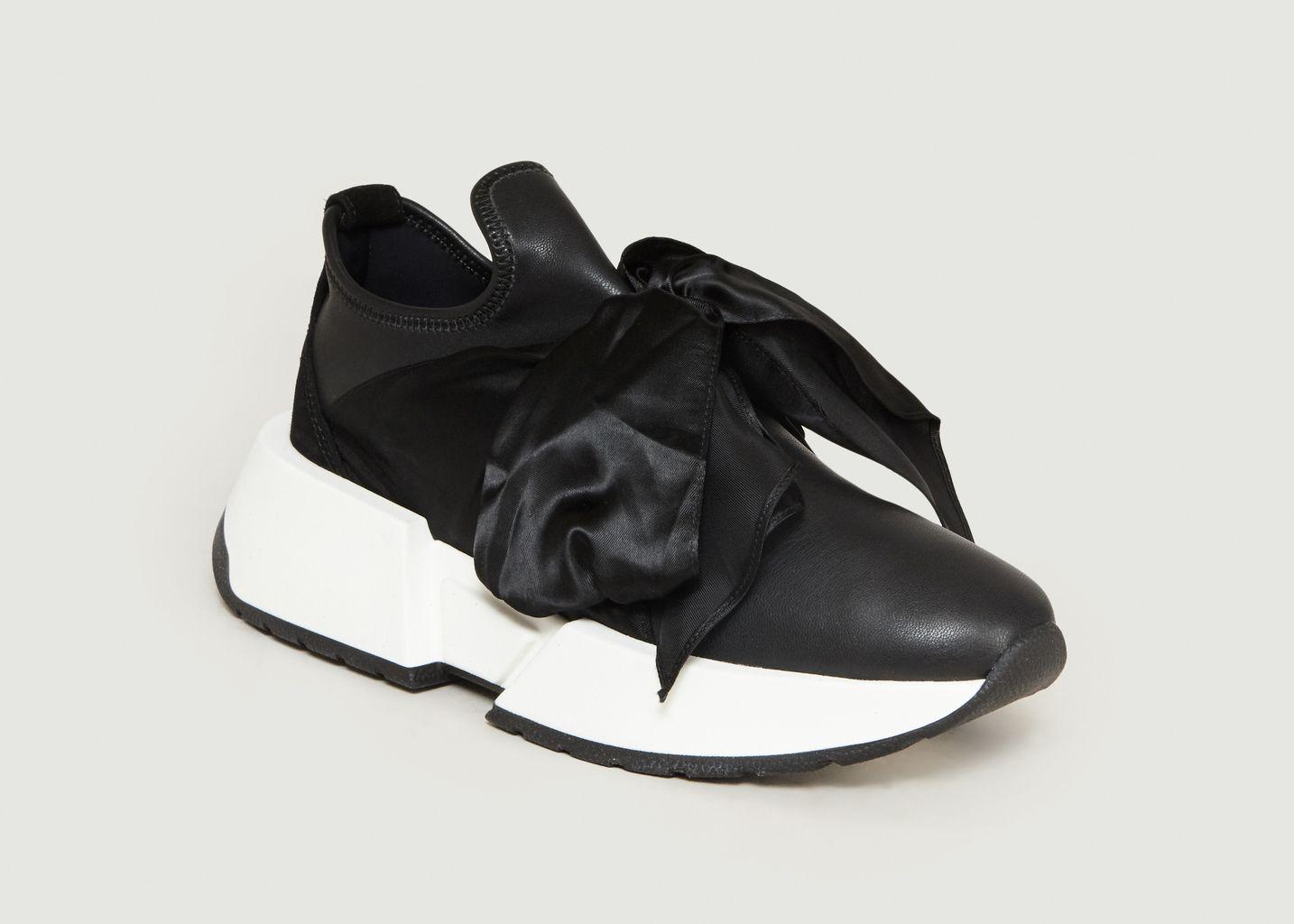Sneakers En Cuir Avec Ruban - MM6
