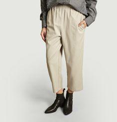 Pantalon Elastiqué Taille Haute