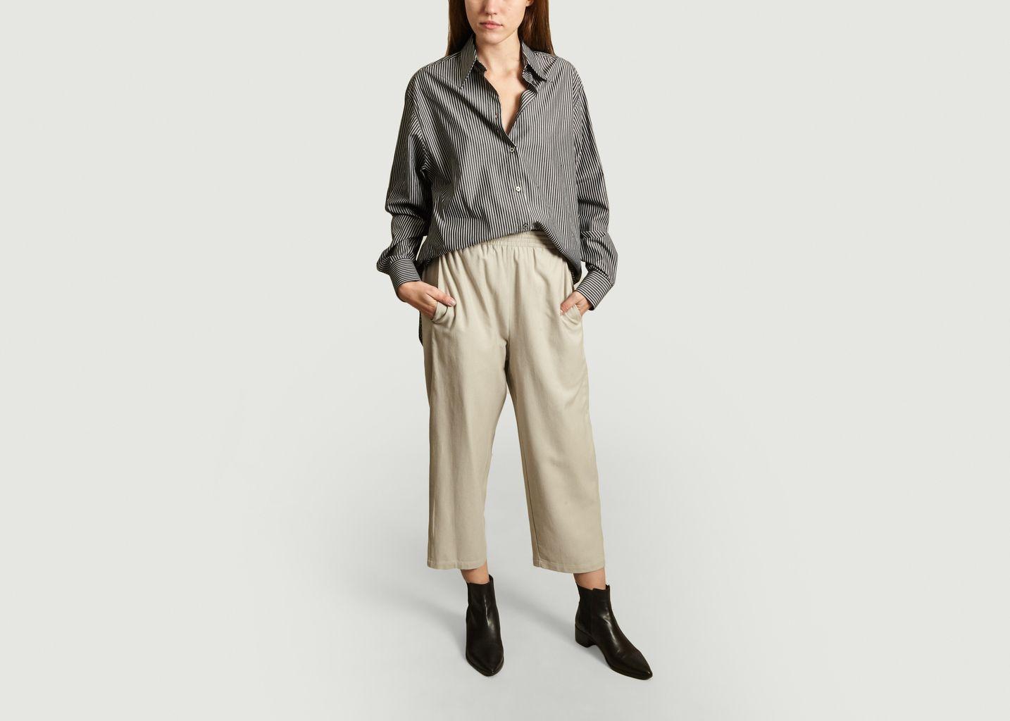 Pantalon Elastiqué Taille Haute - MM6