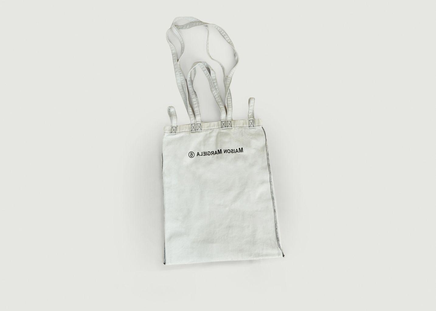 Tote Bag en Denim Triple Portés Sérigraphié  - MM6