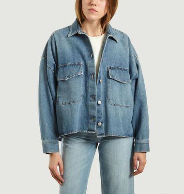 Veste chemise en jean oversize