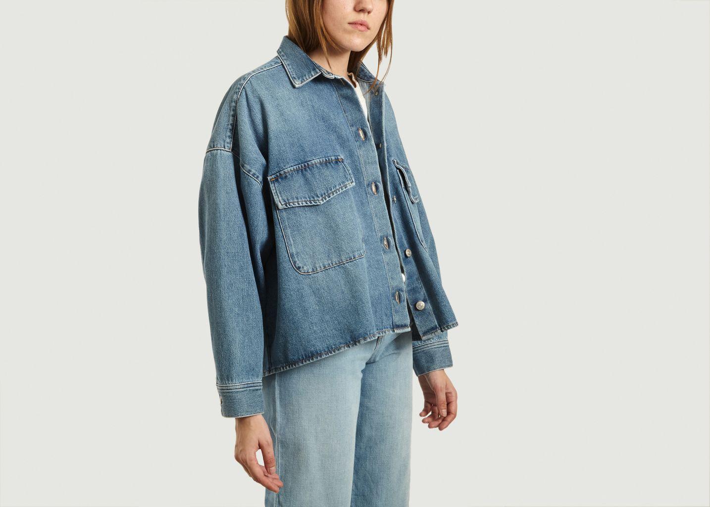 Veste chemise en jean oversize - MM6