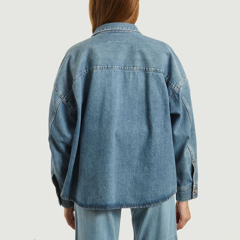 Veste chemise en jean oversize - MM6 Maison Margiela