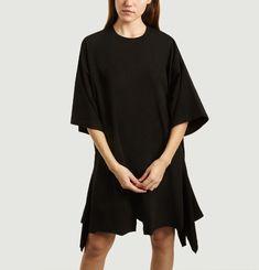 Oversize cut jersey short dress