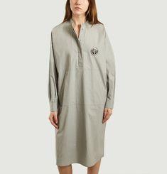 Mid-length poplin shirt dress