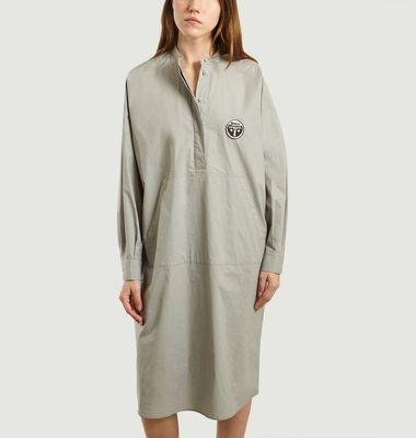 Robe chemise en popeline mi-longue