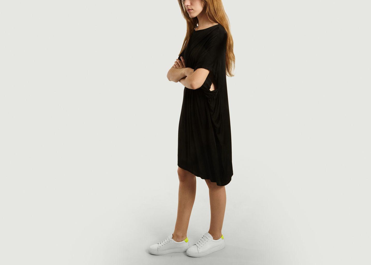 Robe t-shirt détail froncé - MM6