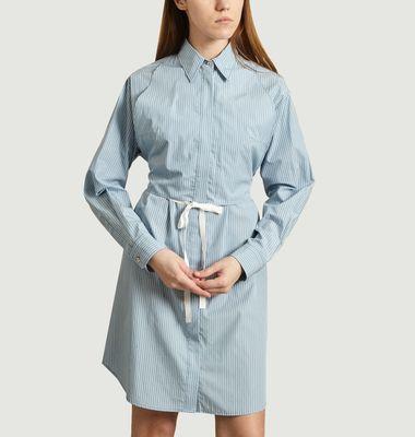 Striped popelin shirt-dress