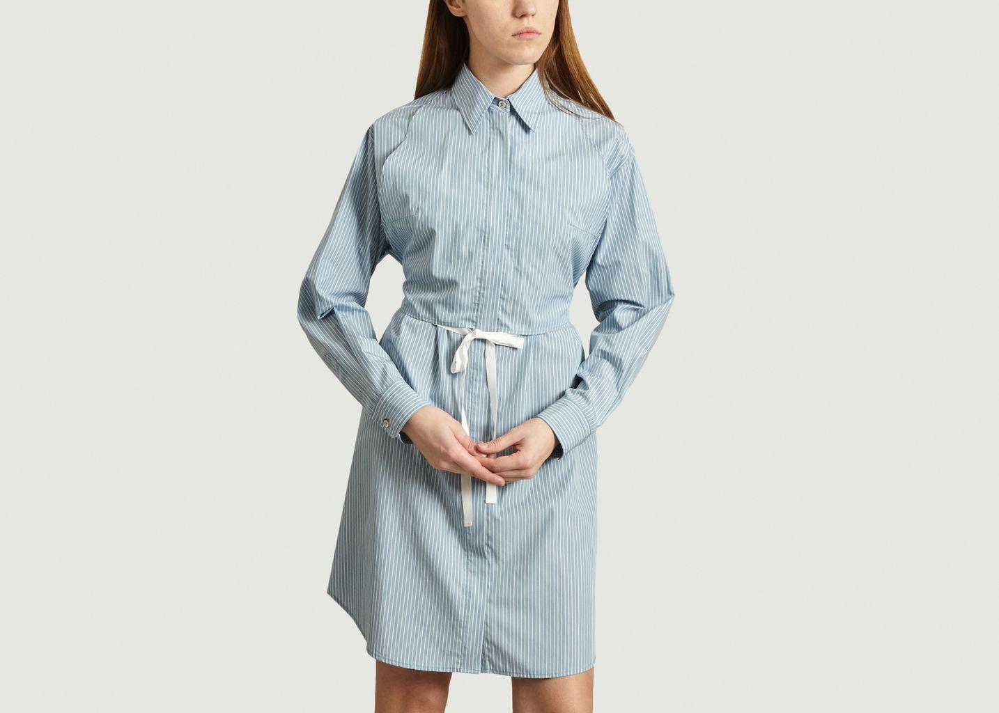 Robe-chemise en popeline rayée - MM6