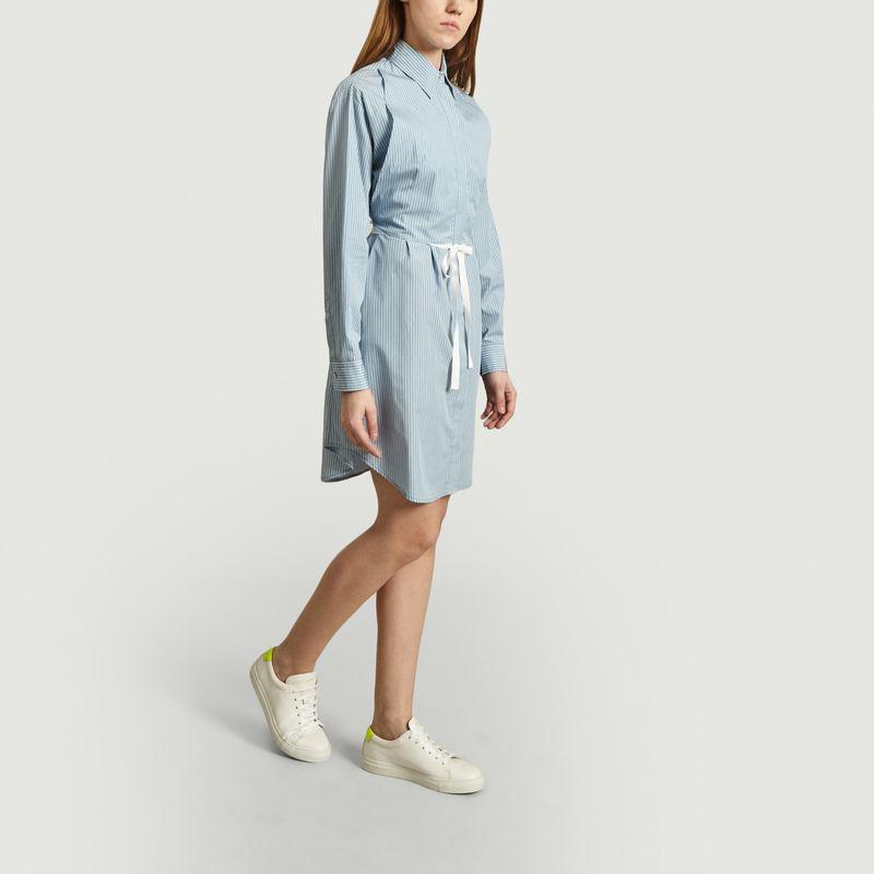 Robe-chemise en popeline rayée - MM6 Maison Margiela