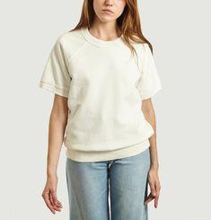 Short-sleeved sweatshirt with back print