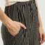 matière Pantalon large à imprimé rayé - MM6