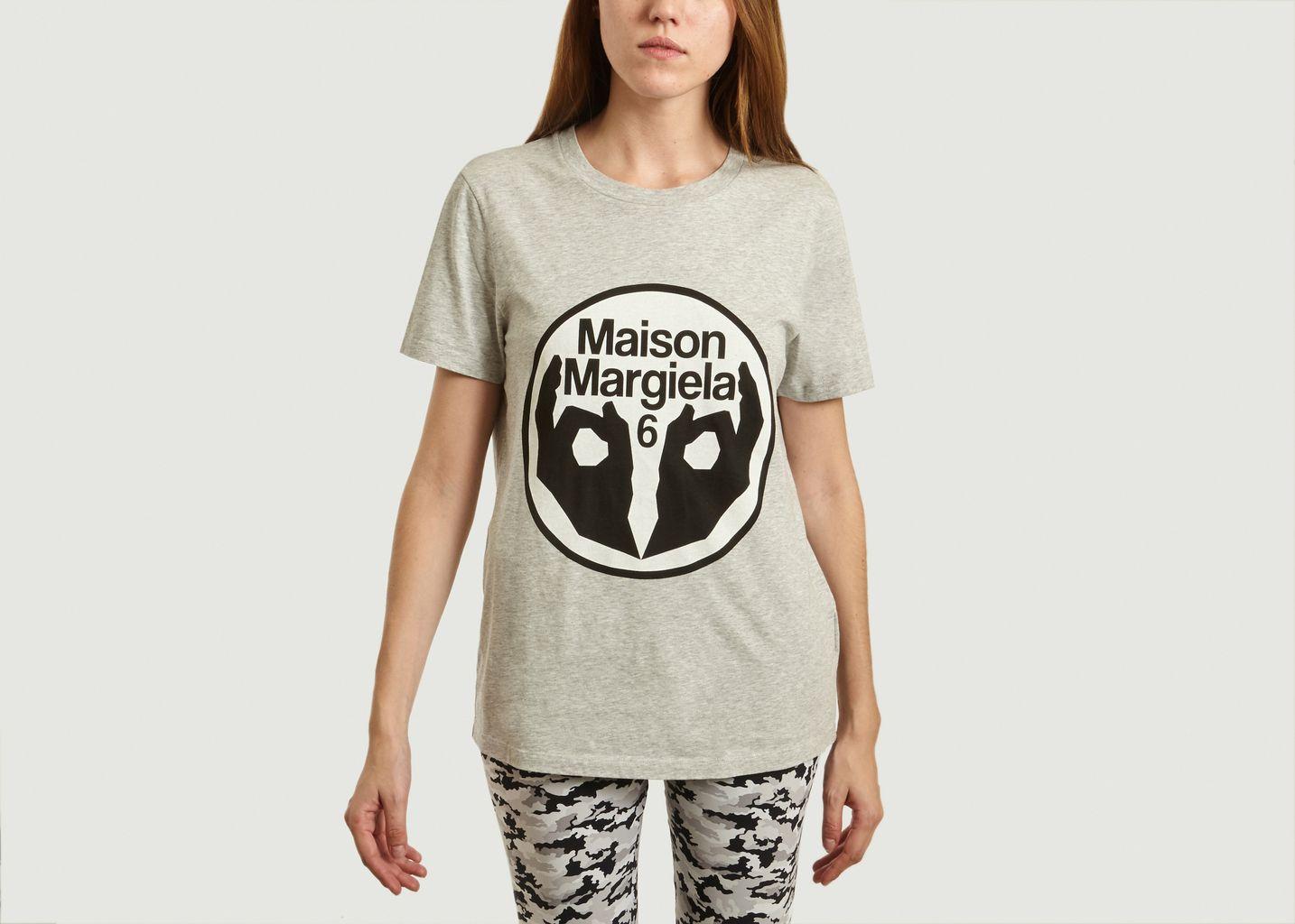 T-Shirt Logo Imprimé - MM6 Maison Margiela