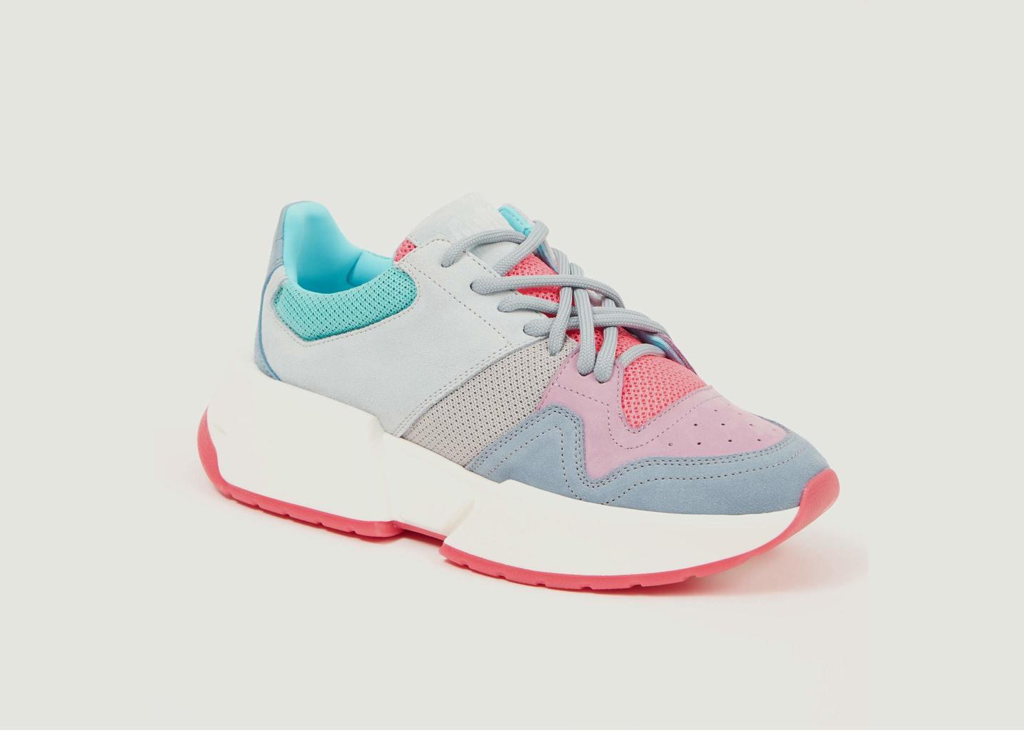 Sneakers suède à empiècements - MM6