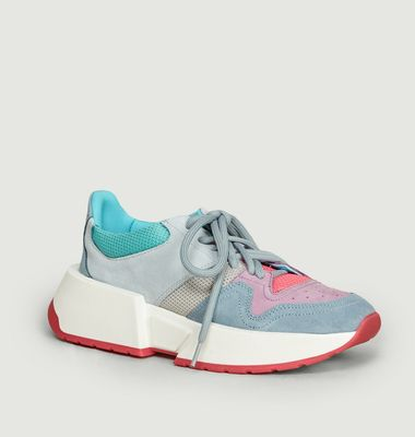 Sneakers suède à empiècements