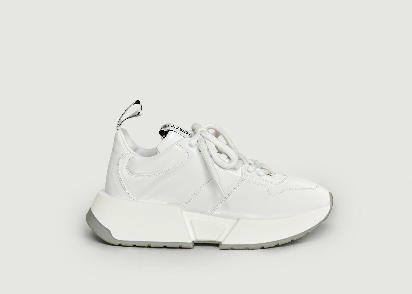 Sneakers compensées à tissu brillant - MM6 Maison Margiela