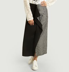 Printed double skirt with zipper closure