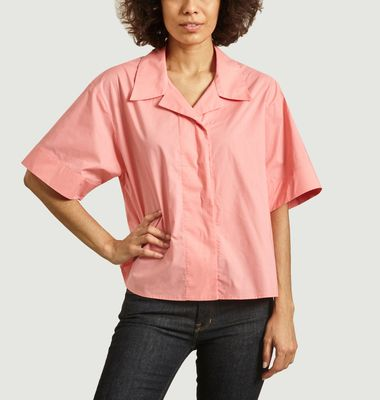 Oversized shirt with tailor collar