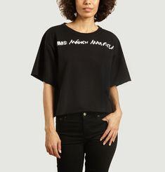 Loose t-shirt with logo print