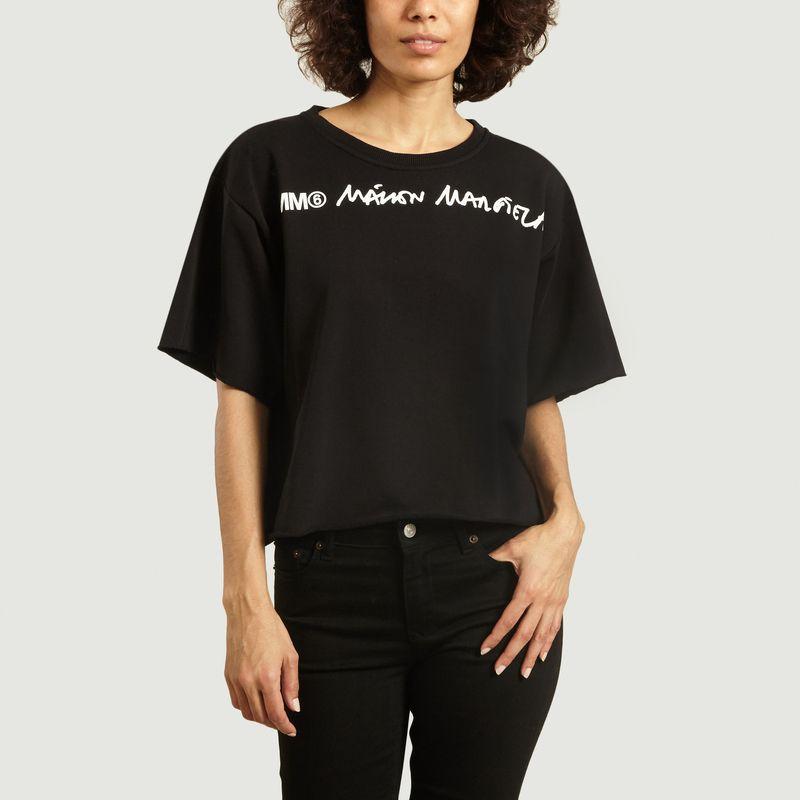 T-Shirt ample imprimé logo - MM6 Maison Margiela