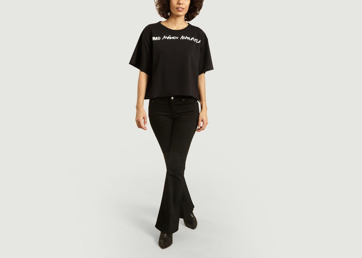 T-Shirt ample imprimé logo - MM6