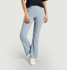 Knitted flared pants