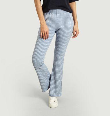 Pantalon évasé en maille coupe flare
