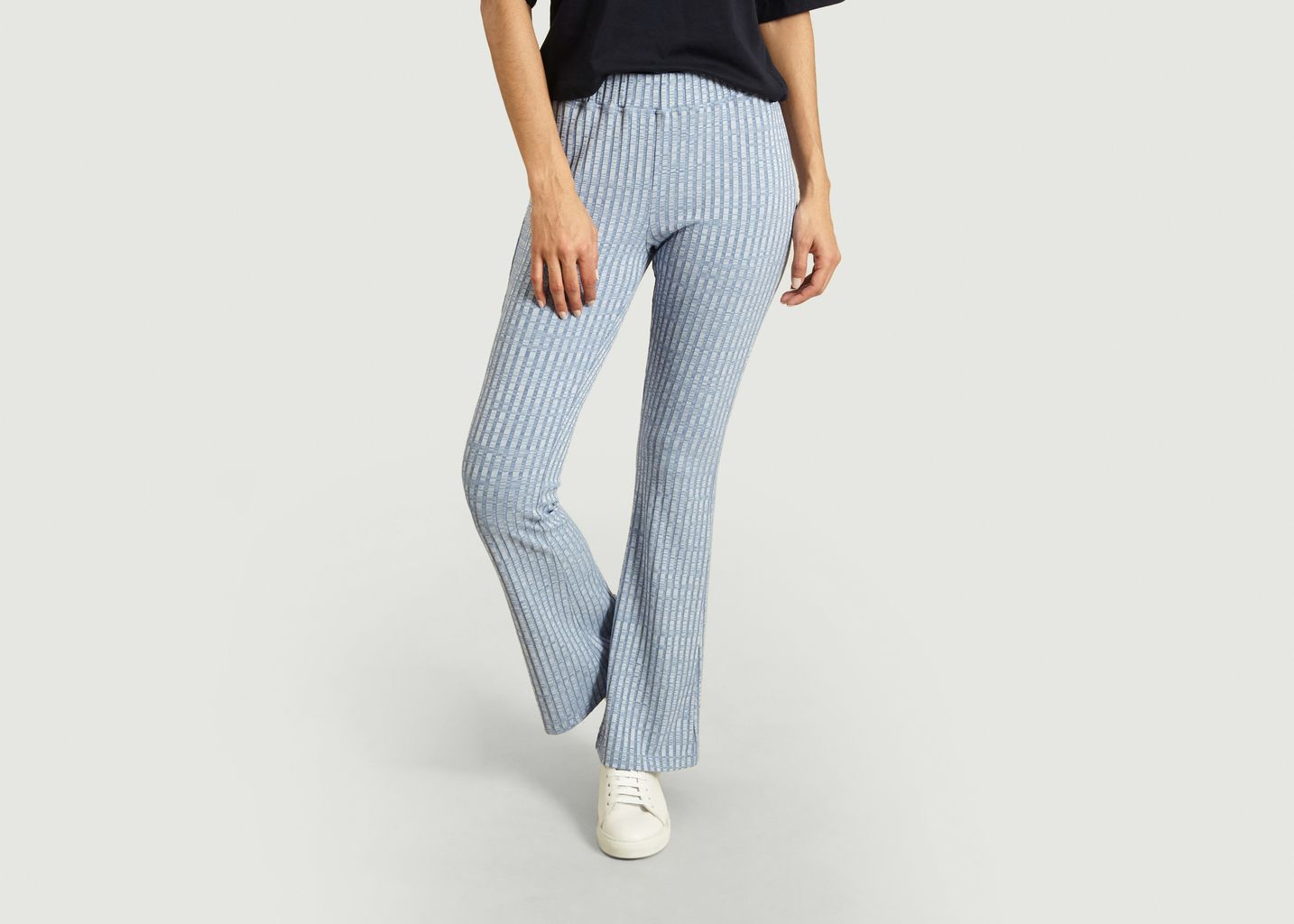 Pantalon évasé en maille coupe flare - MM6