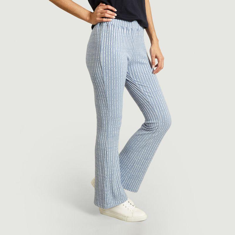 Pantalon évasé en maille coupe flare - MM6 Maison Margiela