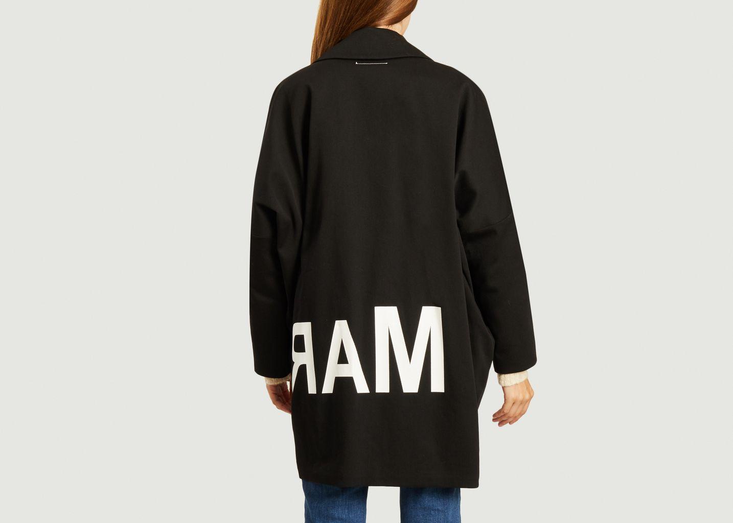 Manteau oversize en coton avec logo inversé - MM6 Maison Margiela