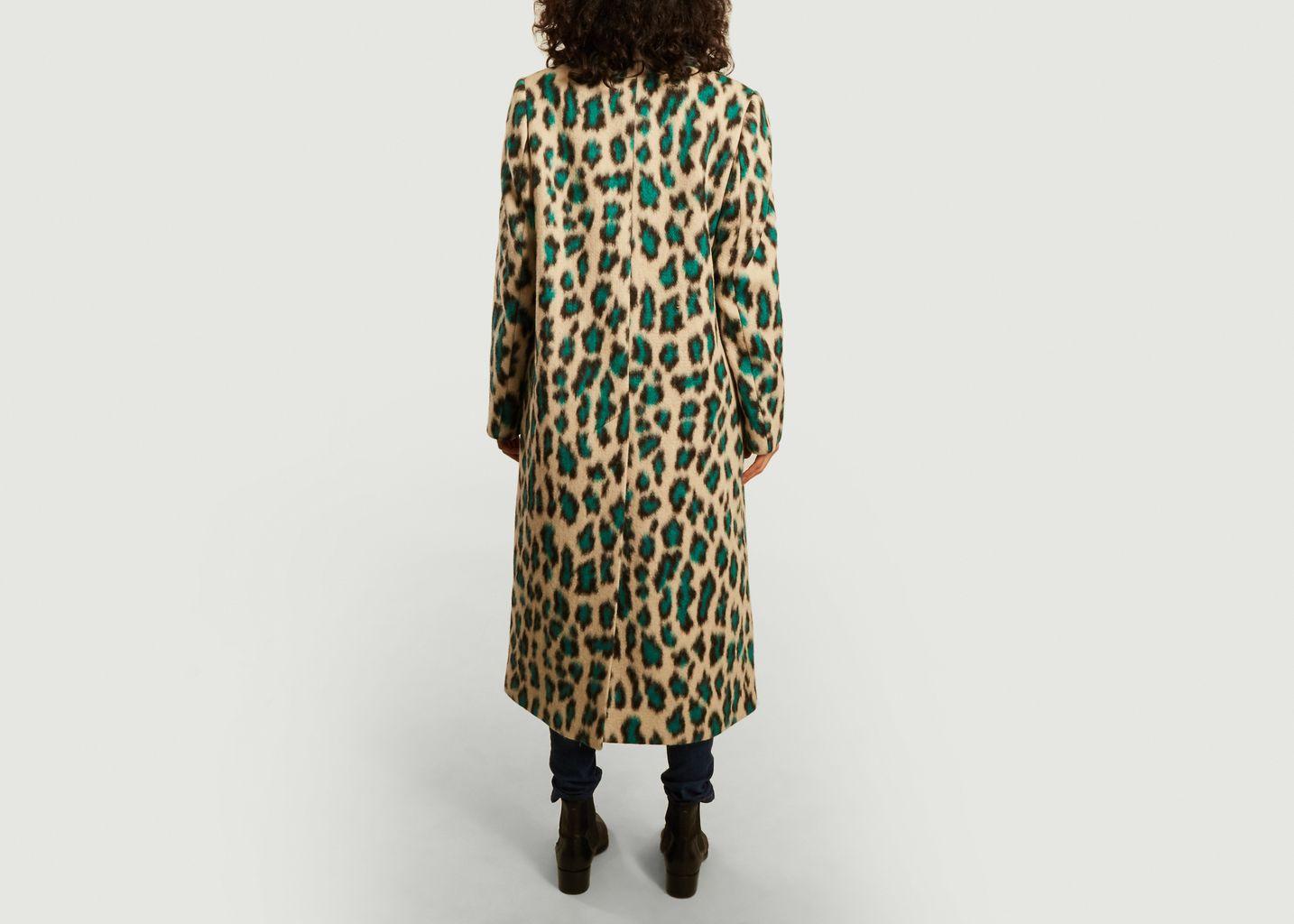 Manteau long motif léopard - MM6 Maison Margiela