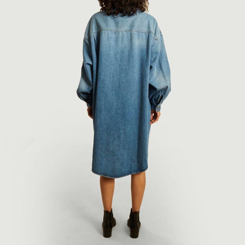 Robe-chemise manches longues oversize en jean - MM6