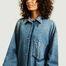 matière Robe-chemise manches longues oversize en jean - MM6