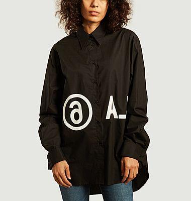 Chemise oversize logotypée