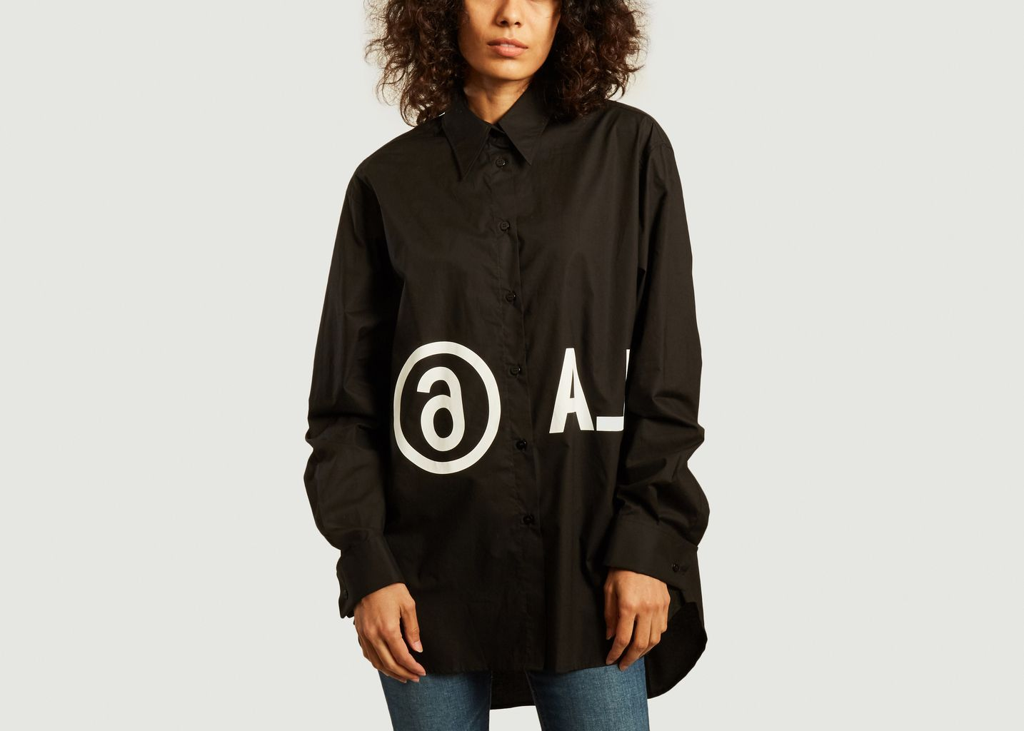 Chemise oversize logotypée - MM6 Maison Margiela