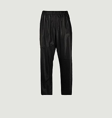 Pantalon loose 7/8e en simili cuir