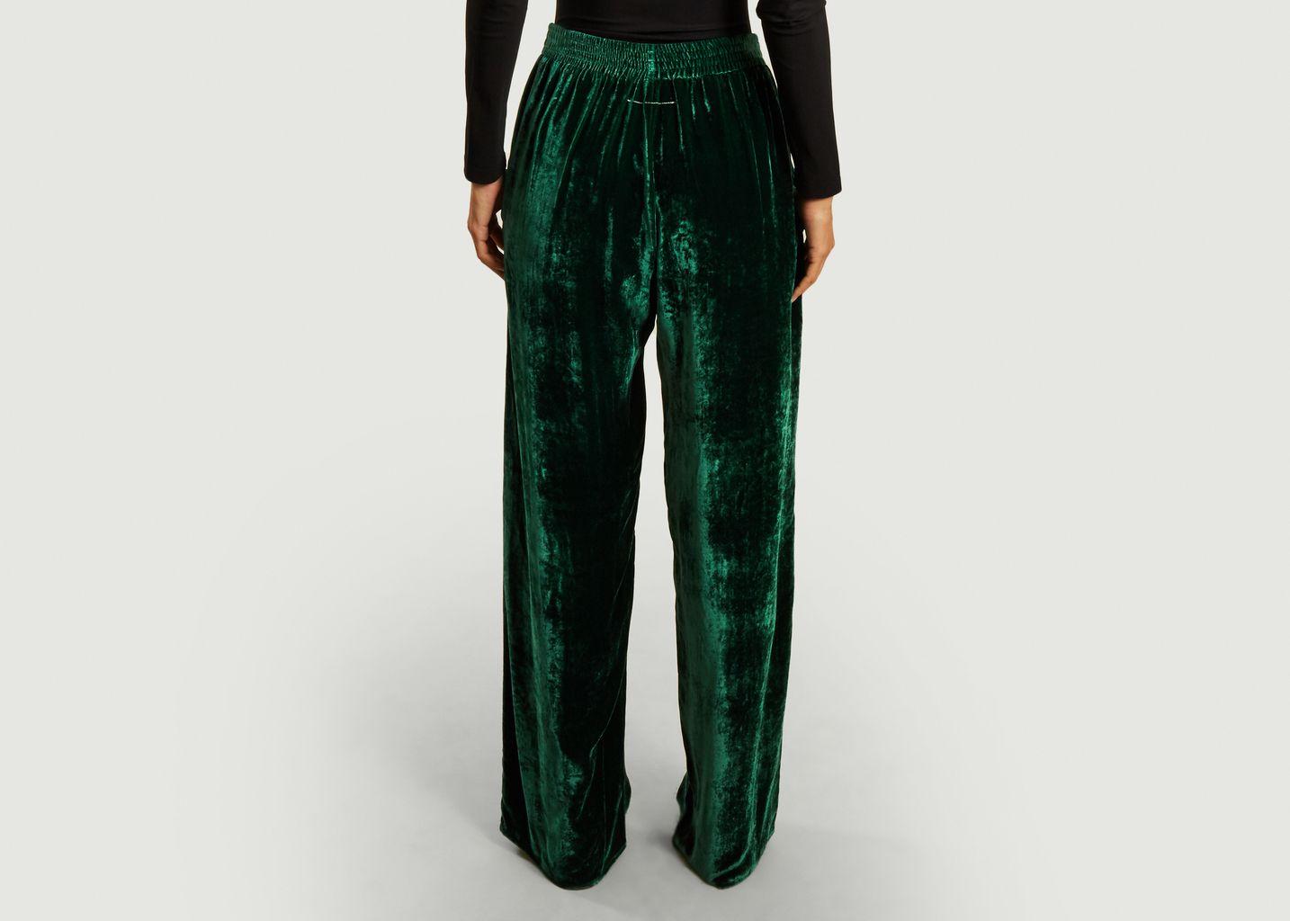 Pantalon ample taille haute en velours - MM6 Maison Margiela