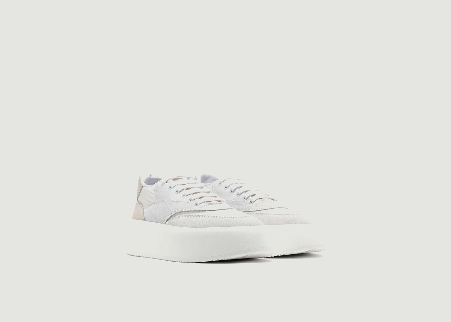 Sneakers cuir et tissu à plateforme - MM6 Maison Margiela