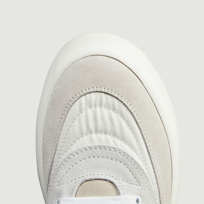 Sneakers cuir et tissu à plateforme - MM6