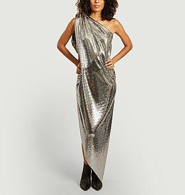 Sequins sleeveless long dress